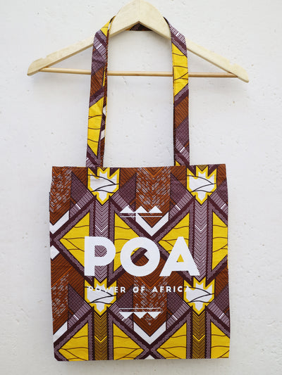Brown x Yellow POA Tote