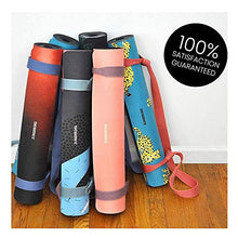 Load image into Gallery viewer, Non Slip Hot Yoga 1.5 mm Thick Mat with Premium Carry Strap Free (BREATHE)