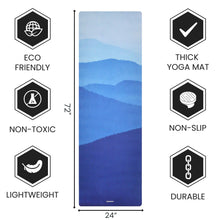 Load image into Gallery viewer, Non Slippery Yoga Mat with Premium Carry Strap Free - 1.5 mm Thick Fordable Mat