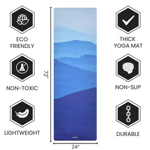 Non Slippery Yoga Mat with Premium Carry Strap Free - 1.5 mm Thick Fordable Mat