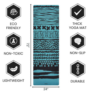 Eco Friend Yoga Mat That Is Lightweight - 1.5 mm Thick Fordable Mat