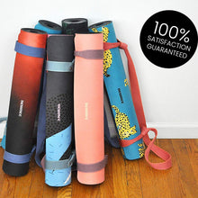 Load image into Gallery viewer, Premium Natural Rubber Suede/Microfiber Yoga Mat with Extra Straps For Free