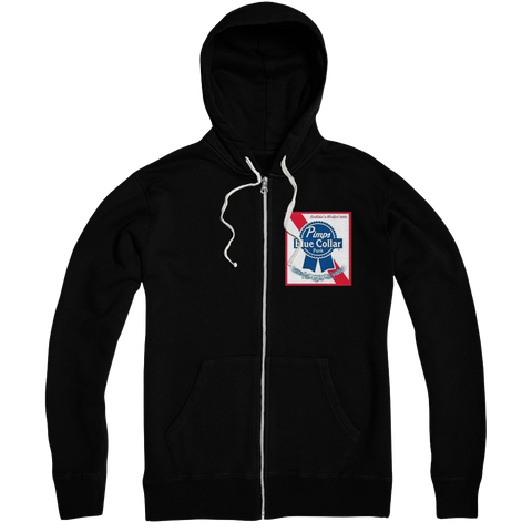 Blue Collar Punk Zip-Up Hoodie
