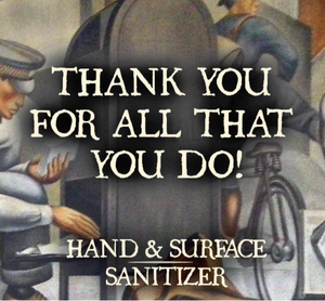 Gratitude Set - Three Bottles 70 Percent Alcohol Unscented Sanitizing Sprays for Gifting and Care Packages