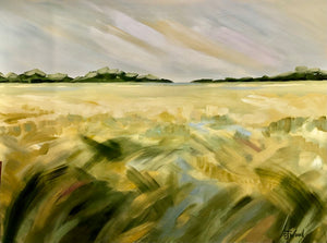 Jeanie Wood Painting -  Salt Marsh (36x48 inches)