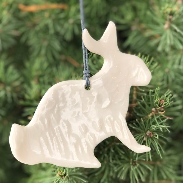 Porcelain Hare Ornament by September Mayo