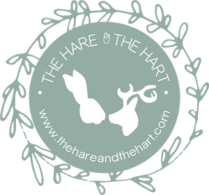 Pictured is The Hare & The Hart circular logo.