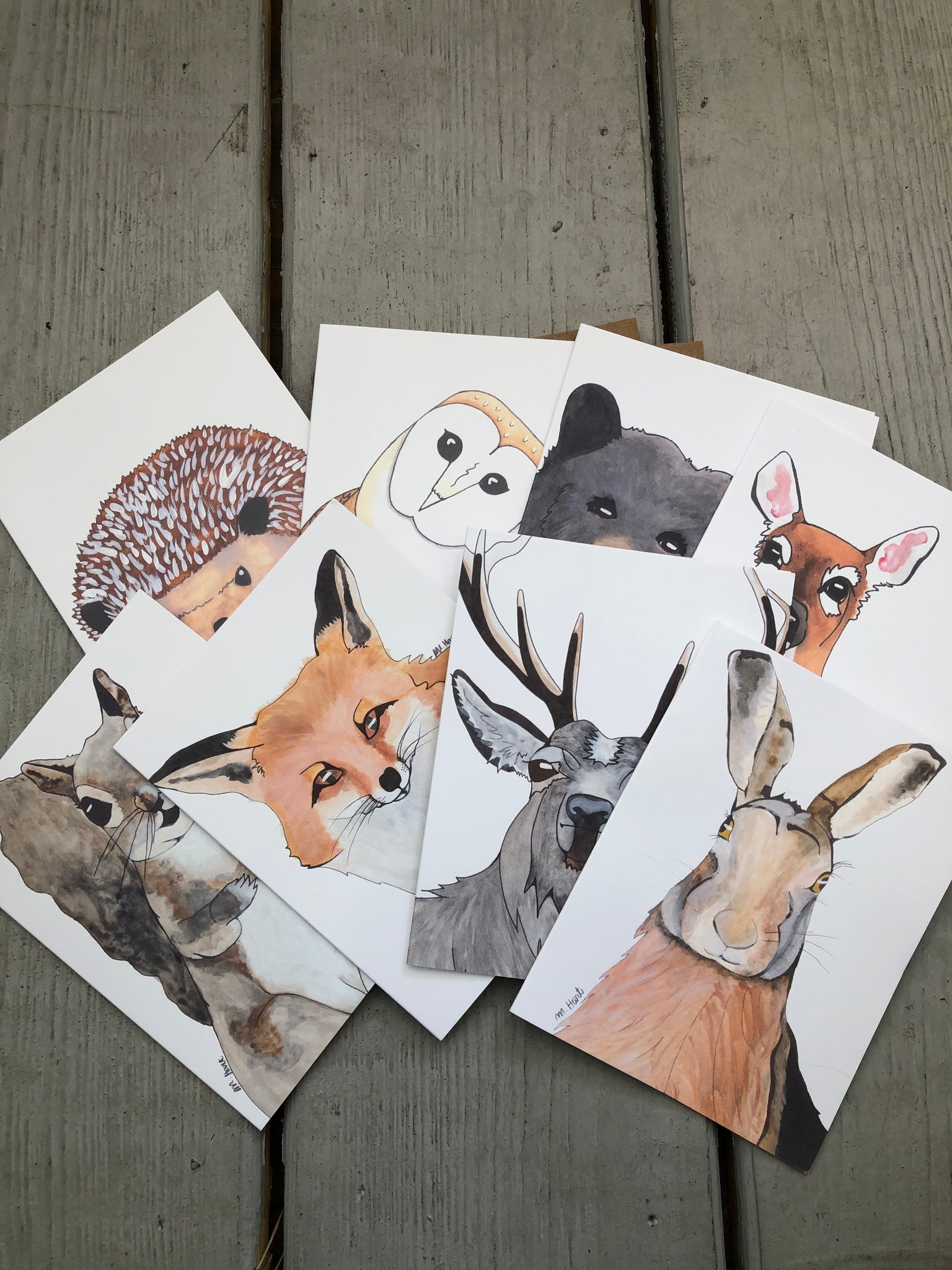 Woodland Creatures Notecard Set of 8