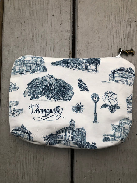 Toile of Thomasville Pouch - Medium
