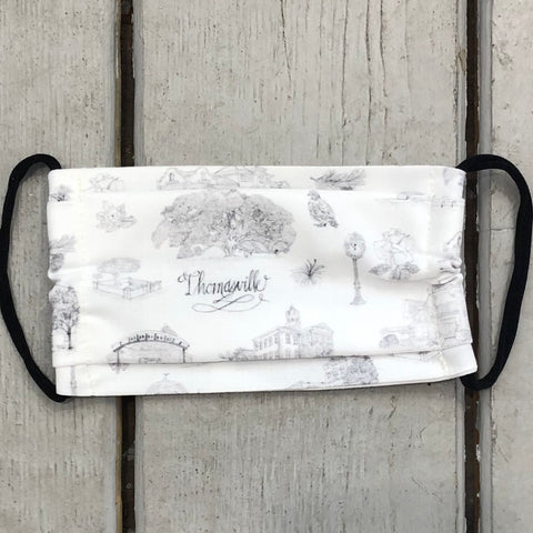 Toile of Thomasville™ Face Mask - Black and White