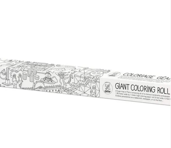 Pictured is the packaging for the OMY XXL Coloring Poster Paris.