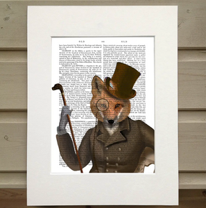 The Bounder, Fox Book Print