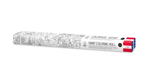 Pictured is the packaging for the OMY XXL Coloring Poster USA.