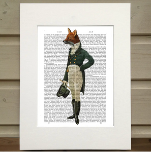 Dressed Up Fox Book Print