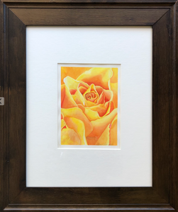 Elena Scibelli Painting - Yellow Rose (15x18 inches)