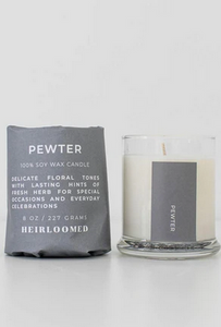 Pewter Candle by Heirloomed Collection