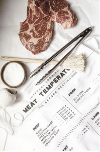 Meat Temperatures Tea Towel by Heirloomed Collection