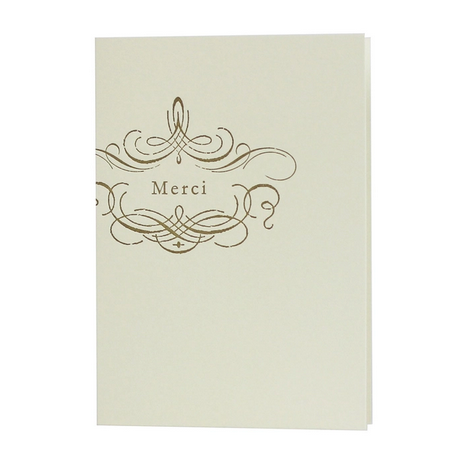 Merci Thank You Card by Oblation