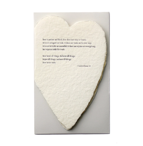 Corinthians Quote Heart Card by Oblation