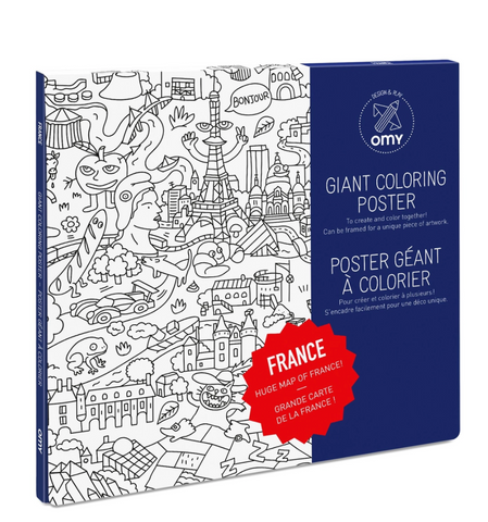 OMY Giant Coloring Poster - France