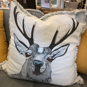 Woodland Creatures Raggy Edge Pillow Covers