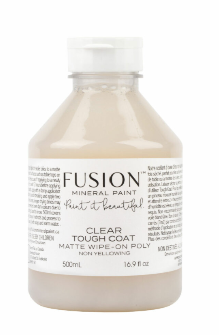 Pictured is a 500mL container of Fusion Tough Coat in Matte.