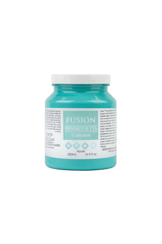 A pint (500 ml) container of Azure Fusion Mineral Paint.