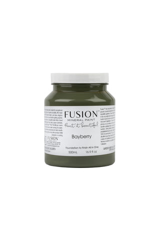 A pint (500 ml) container of Bayberry Fusion Mineral Paint.