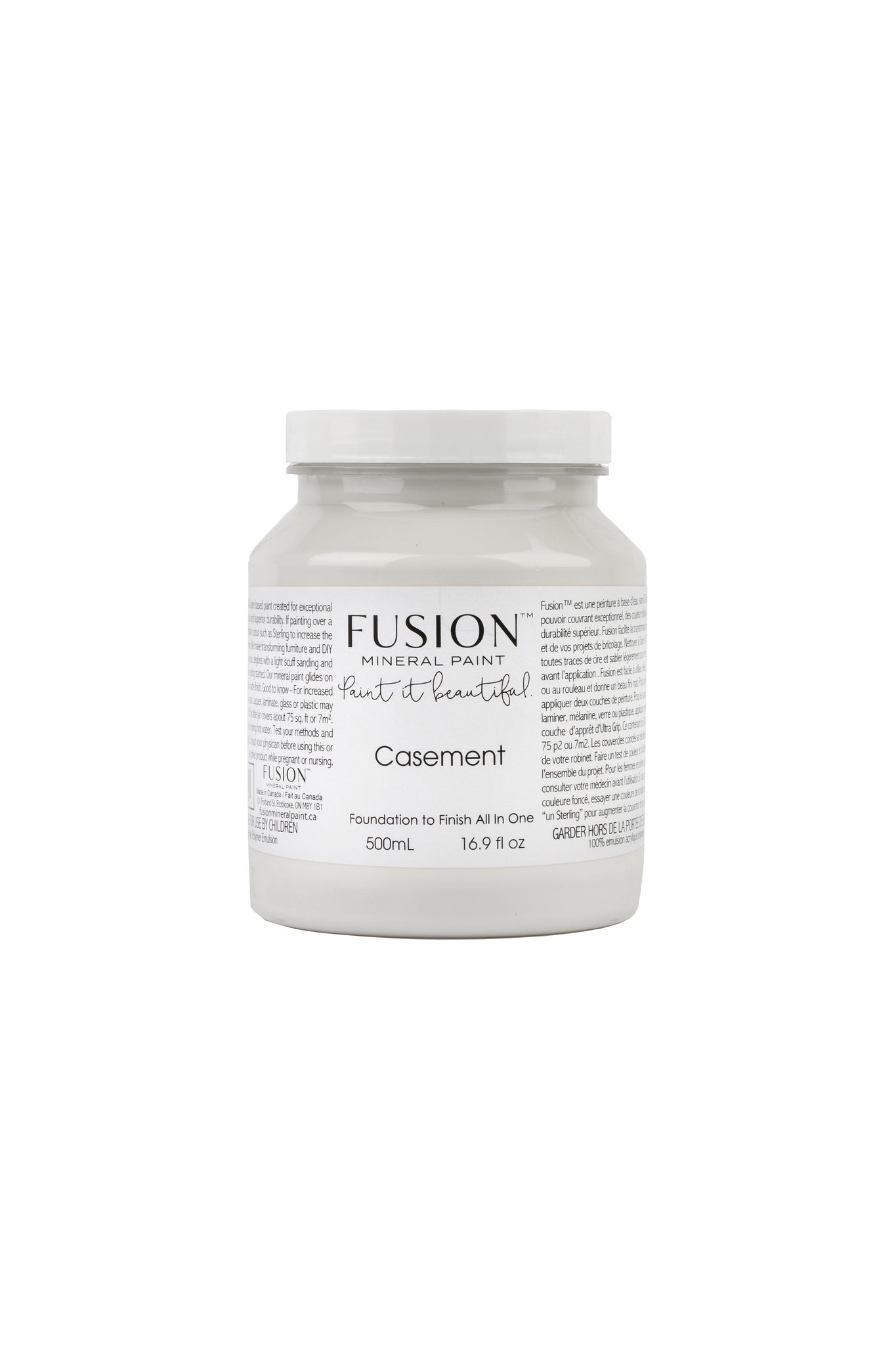 A pint (500 ml) container of Casement Fusion Mineral Paint.
