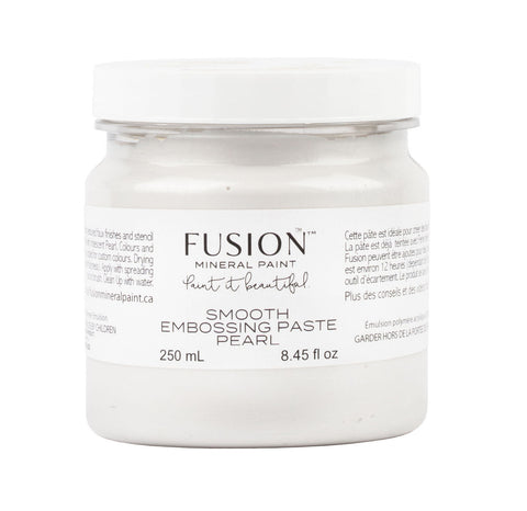 Pictured is a 250mL container of Smooth Embossing Paste in Pearl.