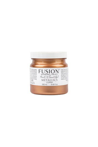 A 250ml container of Copper Metallic Fusion Mineral Paint.