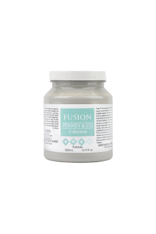 A pint (500 ml) container of Pebble Fusion Mineral Paint.