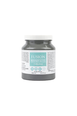 A pint (500 ml) container of Soap Stone Fusion Mineral Paint.