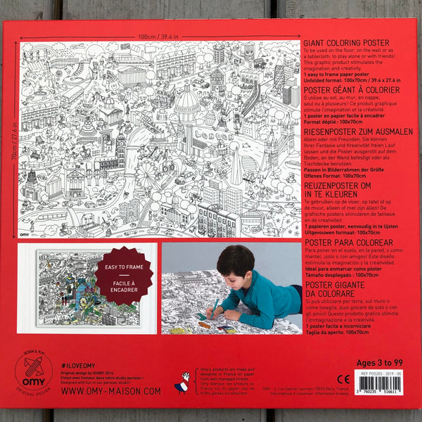 OMY Giant Coloring Poster - London