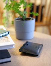 Load image into Gallery viewer, Eco-leather minimal and functional card holder wallet designed in Toronto handcrafted in India