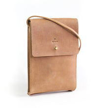 Load image into Gallery viewer, Eco-leather small unisex cross body bag designed in Toronto handcrafted in India front