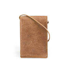 Load image into Gallery viewer, Eco-leather small unisex cross body bag designed in Toronto handcrafted in India back