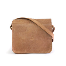 Load image into Gallery viewer, Eco-leather minimal crossbody bag. Designed in Toronto handcrafted in India. Back