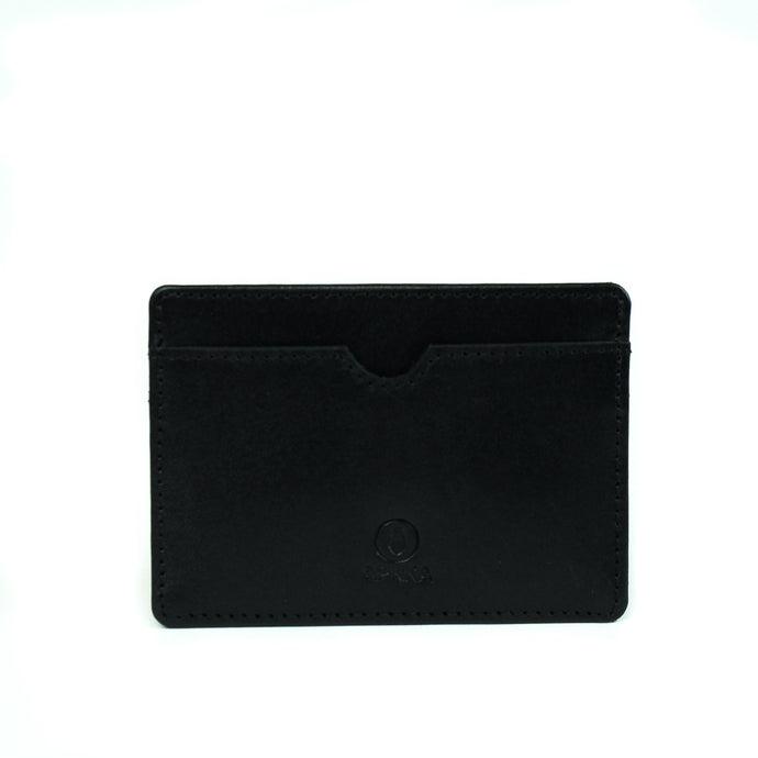 Eco-leather minimal and functional card holder wallet designed in Toronto handcrafted in India