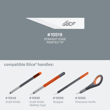 Load image into Gallery viewer, Pointed Tip Replacement Blades for SLICE Craft Knife (10518)