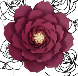 Paper Garden Rose DIY Kit available in various colours and sizes