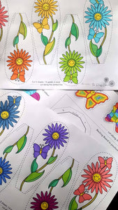 The Daisy Chain - Kids Colour Daisy (Age 4 - 7) - PDF Download