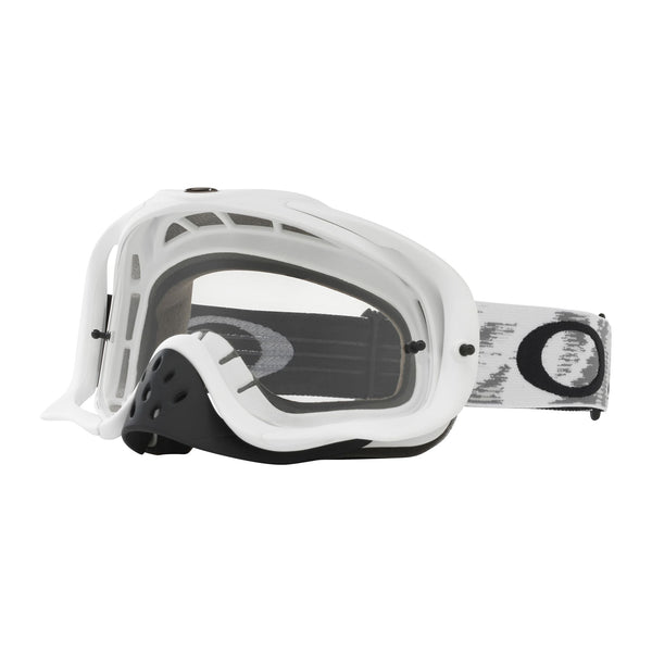 OAKLEY CROWBAR MX GOGGLE (MATTE WHITE SPEED) CLEAR LENS