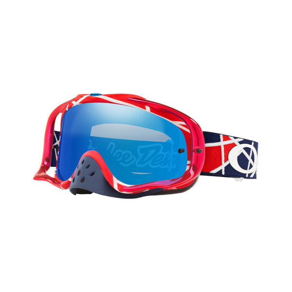 OAKLEY CROWBAR TLD COLLECTION MX GOGGLE (METRIC RED/WHITE) BLACK ICE IRDIUM LENS