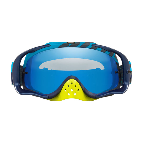 OAKLEY CROWBAR MX GOGGLE (BRAKING BUMPS BLUE/GREEN) BLACK ICE IRDIUM & CLEAR LENS