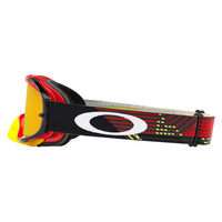 OAKLEY CROWBAR MX GOGGLE (CIRCUIT RED/YELLOW) FIRE IRDIUM & CLEAR LENS
