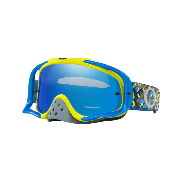 OAKLEY CROWBAR MX GOGGLE (CAMO VINE NIGHT BLUE/GREEN)BLACK ICE IRDIUM & CLEAR LENS