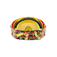 OAKLEY CROWBAR MX GOGGLE (CAMO VINE JUNGLE RED/YELLOW) FIRE IRDIUM & CLEAR LENS