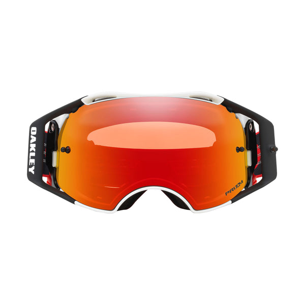 OAKLEY AIRBRAKE MX GOGGLE (RED/WHITE) PRIZM TORCH IRDIUM LENS