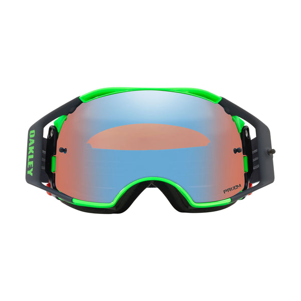 OAKLEY AIRBRAKE MX GOGGLE (SHOCKWAVE BLUE/GREEN) PRIZM SAPPHIRE IRDIUM LENS